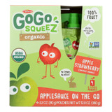 Gogo Squeeze Applesauce - Apple Strawberry - Case Of 12 - 3.2 Oz.