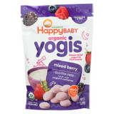 Happy Baby Happy Yogis Organic Superfoods Yogurt And Fruit Snacks Mixed Berry - 1 Oz - Case Of 8