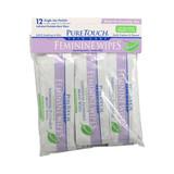 Puretouch Individual Flushable Moist Feminine Wipes - 12 Packets