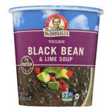 Dr. Mcdougall's Vegan Black Bean And Lime Soup Big Cup - Case Of 6 - 3.4 Oz.