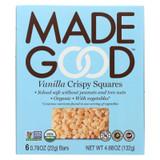 Made Good Crispy Squares - Vanilla - Case Of 6 - 4.68 Oz.