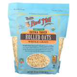Bob's Red Mill - Oats - Organic Extra Thick Rolled Oats - Whole Grain - Case Of 4 - 32 Oz.