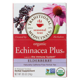 Traditional Medicinals Organic Echinacea Elder Tea -caffeine Free - Case Of 6 - 16 Bags