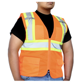 GLOW SHIELD Class 2 - Safety Vest (Mesh With Silver Stripes - Inner Pockets)