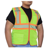GLOW SHIELD Class 2 - Safety Vest (Mesh With Silver Stripes - Inner Pockets) - IES31847789723747