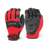 MG402- DEX SAVIOR (TOUCH) Premium Synthetic Reinforced Red Mechanic Glove