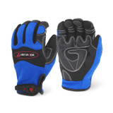 MG401- DEX SAVIOR (TOUCH) Premium Synthetic Reinforced Blue Mechanic Glove