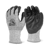 FIRM TOUCH (CUT A4) Black Polyurethane Palm Coated - High Cut resistant Shell
