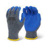 FIRM TOUCH Textured Blue Latex Coated - Grey Shell