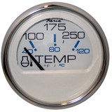 "Faria Chesapeake White SS 2"" Water Temperature Gauge (100-250F)"