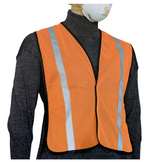 """GLOW SHIELD Non Rated Garments - Safety Vest (1"""" Silver Stripes)"""