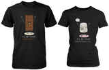 I'll Be Your Chocolate & I'll Be Your Marshmallow Matching Couple Shirts (his & hers Set)