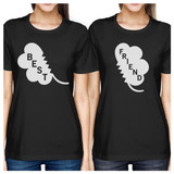 Best Friend Clover Womens Black BFF Marching Shirts St Patricks Day
