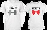 Beauty & Beast White Matching Couple Shirts (Set)