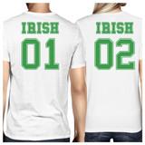 Irish 01 Irish 02 White Cute Couple Marching Shirts St Patricks Day