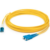 AddOn 10m LC (Male) to SC (Male) Yellow OS1 Duplex Fiber OFNR (Riser-Rated) Patch Cable