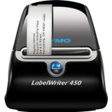 Dymo LabelWriter 450 Direct Thermal Printer - Monochrome - Black, Silver - Label Print