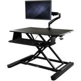 """StarTech.com Sit-Stand Desk Converter with Monitor Arm - Up to 26"""" Monitor - 35"""" Wide Work Surface - Height Adjustable Standing Desk Converter"""