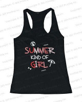 Women's Beach Tank Tops - Summer Kind of Girl (Racerback style)