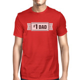 #1 Dad Mens Red Crew Neck Cotton Shirt Perfect Dad Birthday Gifts