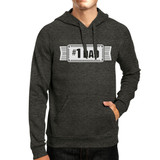 #1 Dad Unisex Dark Grey Funny Fathers Day Hoodie Pullover Fleece