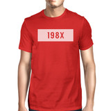 198X Red Short Sleeve Top Funny Letter Printed Comfortable Mens Top