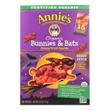 Annie's Homegrown - Bunny Fruit Snacks - Bunnies And Bats - Case Of 12 - 6 Oz.