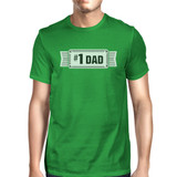 #1 Dad Mens Green Funny Fathers Day Graphic Shirt Unique Dad Gifts