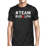 #Team Rudolf Black Men's T-shirt Family Group Member Matching Tee