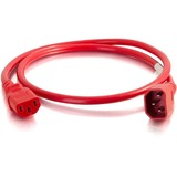 C2G 1ft 18AWG Power Cord (IEC320C14 to IEC320C13) - Red
