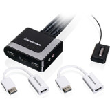 IOGEAR 2-Port HD Cable KVM with DisplayPort Adapters