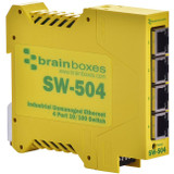 Brainboxes Industrial Ethernet 4 Port Switch DIN Rail Mountable