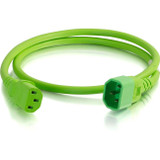 C2G 2ft 14AWG Power Cord (IEC320C14 to IEC320C13) - Green