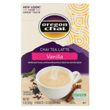 Oregon Chai Chai Tea Latte Mix - Vanilla - Powedered - 8 Count - Case Of 6