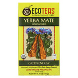 Ecoteas Organic Yerba Mate Unsmoked Green Energy Tea Bags - Case Of 6 - 24 Bags