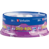 Verbatim DVD+R DL 8.5GB 8X with Branded Surface - 20pk Spindle