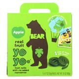Bear Real Fruit Yoyo Snack - Apple - Case Of 6 - 3.5 Oz.