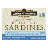 Crown Prince Brisling Sardines In Spring Water - Case Of 12 - 3.75 Oz.