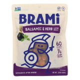 Brami Lupini Snack - Balsamic And Herb - Case Of 8 - 5.3 Oz.