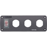 Blue Sea 4367 Water Resistant USB Accessory Panel - 15A Circuit Breaker, 3x Blank Apertures