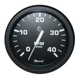 "Faria 4"" Heavy-Duty Black Tachometer (4000 RPM) (Mag Pick-Up) (Diesel)"