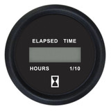 "Faria 2"" Digital Hourmeter Gauge - 12-32V - Euro Black"
