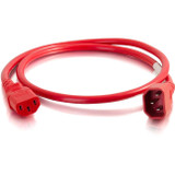 C2G 8ft 14AWG Power Cord (IEC320C14 to IEC320C13) -Red