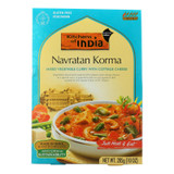 Kitchen Of India Dinner - Mixed Vegetable Curry With Cottage Cheese - Navratan Korma - 10 Oz - Case Of 6