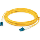 AddOn 10m LC (Male) to LC (Male) Yellow OS1 Duplex Fiber TAA Compliant OFNR (Riser-Rated) Patch Cable