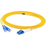 AddOn 0.5m LC (Male) to SC (Male) Yellow OS1 Duplex Fiber OFNR (Riser-Rated) Patch Cable