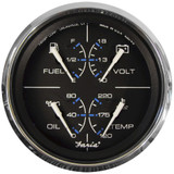 "Faria Chesapeake Black 4"" Multifunction Gauge"