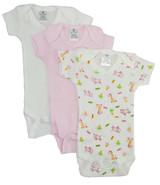 Preemie Girls Printed Short Sleeve Variety Pack