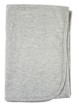 Heather Grey Cotton Receiving Blanket