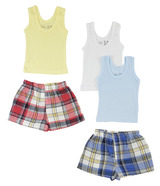 Boys Tank Tops And Boxer Shorts